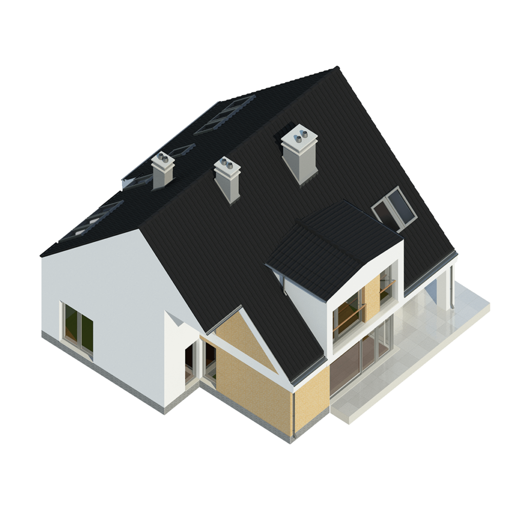 Aksonometria domu