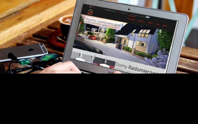 Mockup - Strona internetowa zrzut ekranu